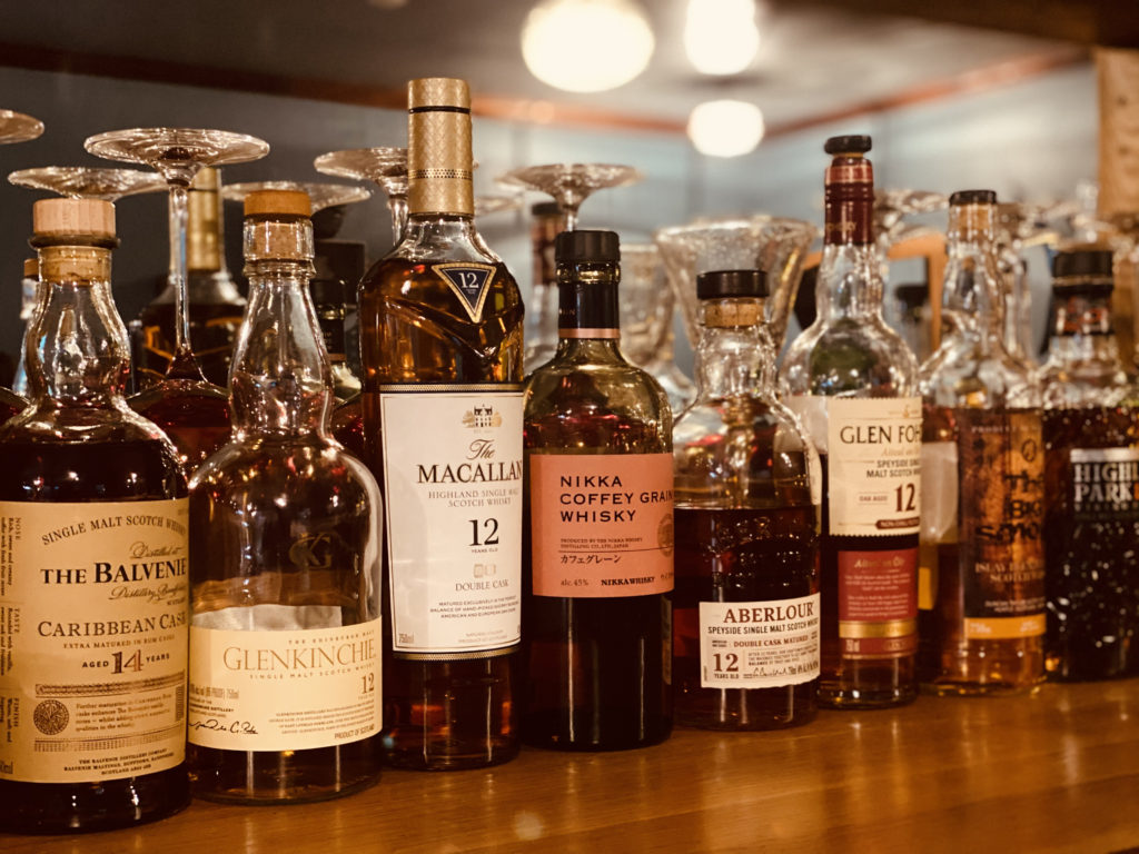 Fine Bourbons in The Big Chill Bar and Grill